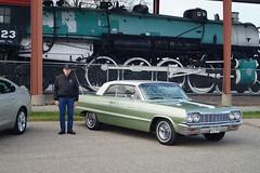 1964 Chevrolet Impala SS & 2014 Chevrolet Impala LT (DVS1mn) Tags: chevrolet sport gm 14 ss bowtie super 64 chevy impala lt 1964 supersport generalmotors 2014