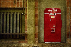 in bottles (silviaON) Tags: old vendingmachine cocacola textured flypaper evelynflint