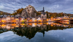 Dinant (Mario Visser) Tags: city travel blue sky water clouds buildings landscape cityscape belgium belgie sigma dinant paars d7100 ostrellina