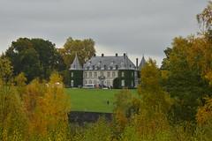 Le château sous un ciel gris d'automne
