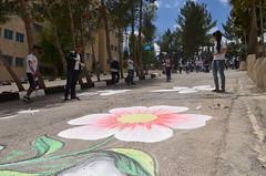 DSC_8783 (Al Ahliyya Amman University) Tags: street flowers students colors painting colorful university pretty time weekend president amman happiness jo jordan characters aau joyful       ccbysa  ahliyya          balqa      alsaro