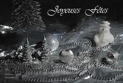 Joyeuses Ftes (Hlne Quintaine) Tags: composition neige argent perle bonhomme boule bougie dcor bonhommedeneige cration joyeuse ftes joyeusesftes
