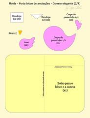 Molde porta bloco de anotações 'Correio elegante' 2/4 (Feito a mão [by Rafa]) Tags: passarinho felt feltro fofo molde fieltro façavocêmesmo portabloco feltrosantafé rafagibrim apaixonadosporfeltro
