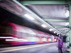 WHITE CITY 76 (Nigel Bewley) Tags: centralline whitecity london england uk londonunderground londontransport underground tfl mindthegapmindthegap tube thetube transport transportforlondon publictransport urban city tubestation hammersmithandfulham shepherdsbush woodlane w12 londonist december december2016 unlimitedphotos whyitdoesnothavetobeinfocus blur blurry night nigelbewley