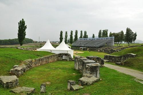 Roman military amphitheatre in Carnuntum