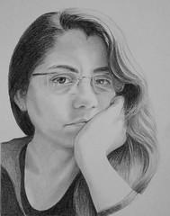 Vanesa for JKPP (bellydanser) Tags: jkpp juliakaysportraitparty portrait people graphite pencil blackandwhite bw