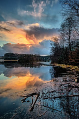Eivindsvatnet, Norway (Vest der ute) Tags: g7x norway rogaland haugesund water waterscape sky clouds landscape reflections mirror trees fav25 fav200