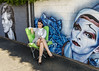 Hanging Out in My Green Chair (Laveen Photography (aka cyclist451)) Tags: laveenphotography photograph photography 7thstreet az arizona davidbowie douglaslsmith gwenmerriman maggiekeane phoenix artistmaggiekeane cyclist451 model modeling mural muse photographer wall wwwlaveenphotographycom unitedstates us
