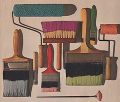 Paintbrushes From A Magazine Ad (TedParsnips) Tags: paint paintbrushes color painting dutchboy ad magazine advertisement 1960s 60s sixties