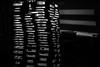 nursery lightsculpture V (genelabo) Tags: blue edited nursery light sculpture licht installation art genelabo effect artistic kunst pattern abstract texture bright indoor minimalism diagonal depth field lightroom sony 6300 35mm black background blackwhite schwarzweiss sw bw monochrome