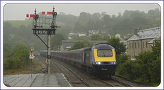 Photo of Monday 2nd July 2012 a very wet and gloomy Lostwithiel up HST