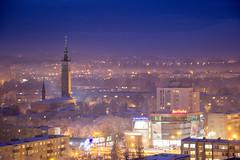 IMG_8647 (KarolisKybartas) Tags: klaipėda nightphotography long exposure city lights landscape snow winter roofs buildings building evening night