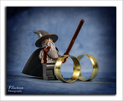 Lord Of The Rings (deltic22) Tags: lord gold rings lego tabletop still life blue magic hat cloak wand