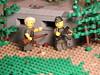 Youngsters (brickdetailer) Tags: german france guns legos build pillbox gray grey brown green young tan yellow