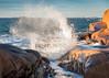 Incoming (johanbe) Tags: wave cliff rock splash big våg klippor ocean sea hav storm vågor nature power kraft natur västkusten bohuskusten sweden urd landscape seascape nikon sigma