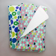 fullsizeoutput_19b3 (Baby Bliss 7lbs) Tags: burp cloth baby flannel terry hearts polka dots blue green pink pattern handmade unitue sew newborn 012