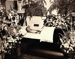 Mother (~ Lone Wadi ~) Tags: coffin casket death funeral wake flowers floral corpse deceased postmortem indoors retro 1940s unknown dead
