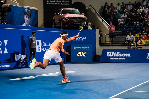 "Rafael Nadal struggles to return Milos Raonic's Service at 202 km/h • <a style=""font-size:0.8em;"" href=""http://www.flickr.com/photos/125636673@N08/31990029415/"" target=""_blank"">View on Flickr</a>"