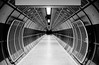 London Underground corridor in black and white (jbarry5) Tags: london londonunderground londonbridgeundergroundstation abstract geometry travelphotography travel monochrome blackandwhite