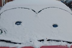 Good Morning Weekend (Sockenhummel) Tags: fuji x30 fujifilm finepix fuix30 auto car winter snow schnee gesicht lächeln zeichnung windschutzscheibe frontscheibe windscreen