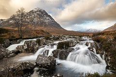 Buachaille Etive Mòr (Steve Mackay) Tags: buachailleetivemòr scotland glenetive landscape landscapes nature wilderness mountain mountains rivercoupall waterfall falls stevemackay
