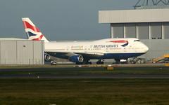 G-BNLP engine test. (aitch tee) Tags: cardiffairport aircraft airliner bamc britishairways b747400 dreamflightlivery gbnlp maintenance cwlegff maesawyrcaerdydd walesuk