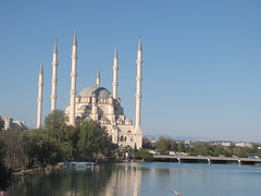 Sabancı Central Mosque (Alexanyan) Tags: central mosque adana turkey river seyhan bridge türkei minaret islamic muslic pray temple