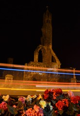 St Andrews Cathedral (bryano14) Tags: cathedral standrews fife ruins flowers lighttrails