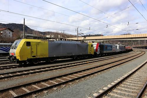 Lokomotion ES 64 F4-026, 185 665-7 und 139 135-8 Kufstein