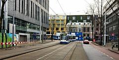 Roetersroute 3 (Peter ( phonepics only) Eijkman) Tags: amsterdam city combino gvb detour omleiding tram transport trams tramtracks rail rails strassenbahn streetcars trolley nederland netherlands nederlandse noordholland holland