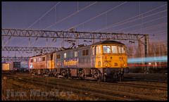 _DSD1994 (saltley1212) Tags: freightliner class86 electric locomotive 866 86622 86614 brent sidings london night