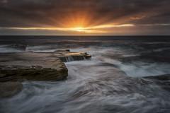Splash down (Crouchy69) Tags: sunrise dawn landscape seascape ocean sea water waves flow motion coast rocks clouds sky mahon pool maroubra beach sydney australia