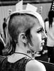 (Giovanna Intra) Tags: ragazza girl chica punk shaved rasata cresta orecchini streetphotography calle strada manifestazione protesta