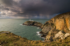'South Stack Showers' - Anglesey (Kristofer Williams) Tags: coast sea seascape lighthouse weather showers cloudburst cliffs southstack anglesey landscape cloud
