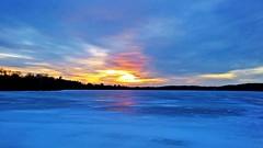 Sunset Blues (Bob's Digital Eye) Tags: 2017 blue bobsdigitaleye clouds flicker flickr ice lakesunsets lakescape landscape lgl62vl nature outdoor phone silhouette sky sunset winter winterinmn laquintaessenza