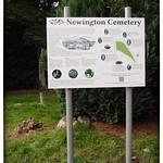 Newington Cemetery Sign