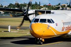 ATR 72-500 Air caldonie (cedric.harbulot) Tags: nikon aircraft air magenta plan sigma helicopter nouvellecaldonie newcaledonia avion aerodrome hlicoptre caldonie atr72500 arodrome nouma 18250mm d5300