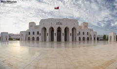 Panorama of Royal Opera House Muscat (mahernaamani) Tags: summer panorama house beauty architecture clouds canon cool opera arch nest cloudy tripod royal sunny architect  oman royaloperahouse muscat 6d   rohm          canon6d