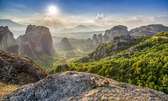 Meteora sunset (xelmark) Tags: sunset summer sunlight nature beautiful landscape nikon warm colours greece monastery resting meteora peacefull zalazak 2015 grcka sumrak meteori nikkor1685vr nikond7000