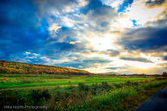 IMG_1966 (Mike M Martin) Tags: autumn sunset sky sun color beauty field clouds newjersey nj meadow epic