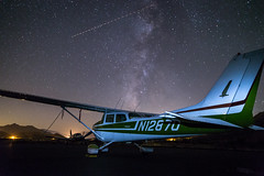 Fly Me to the Moon and Back (Jonathan Ma.) Tags: nature night way airplane stars kern astrophotography valley milky skyhawk cessna 172