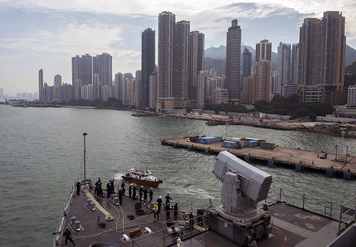USS Germantown Transits into Hong Kong
