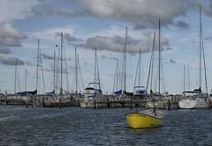 Lake Michigan, Milwaukee Wisconsin USA (MalaneyStuff) Tags: sky usa wisconsin clouds sailboat nikon lakemichigan sail bayview southshore d5100 mkelakefront20151002