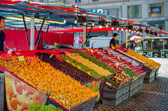 Mushrooms and produce at Htorget (Ilya Burlak) Tags: sweden stockholm hotorget