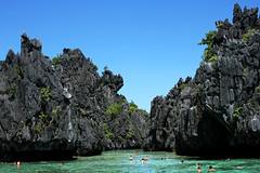 Secret Lagoon (Nick Barx) Tags: ocean tree beach water island boat buffalo asia farm philippines el palm southeast nido