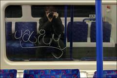Valium (Alex Ellison) Tags: urban glass graffiti boobs tag drug damage inside londonunderground graff scratch northernline selfie valium tubetrain windown