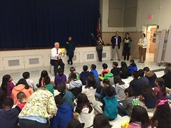 Congressman Sessions reading to third grade students at Spring Valley Elementary School in Richardson