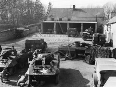 5th Recconnaissance Troop, Seaforde, March 1944 (G.I.N.I) Tags: greyhound m8 ww2 northernireland halftrack countydown armoredcar seaforde willysjeep seafordehouse