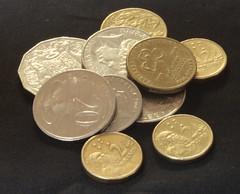 Aussie Coins (Zonifer Lloyd) Tags: coins australian round portaugusta southaustraliaaustralia
