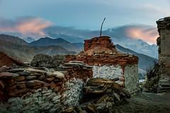 Sunset on shorten (Agnes Cassiere) Tags: trek mustang népal chele octobre2015 tousdroitsréservés©agnèscassière ©agnèscassièrephotography